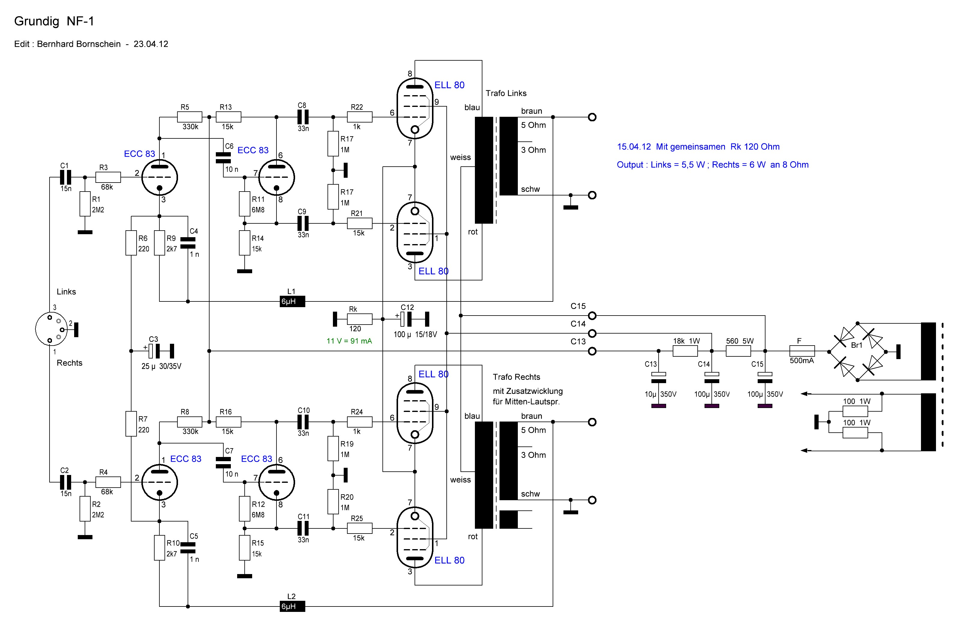 Stereo-Endstufe ELL80
